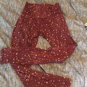 Cute red star leggings